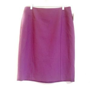 Halogen Seamed Above The Knee Pencil Skirt  10